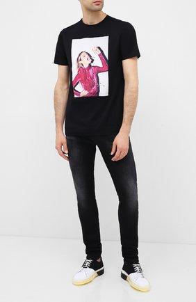Мужская хлопковая футболка LIMITATO черного цвета, арт. CALM ME/T-SHIRT REGULAR | Фото 2