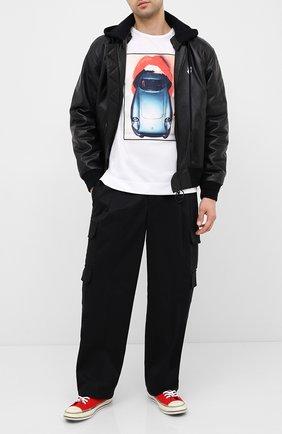 Мужская хлопковая футболка LIMITATO белого цвета, арт. H0T D0G/T-SHIRT REGULAR | Фото 2