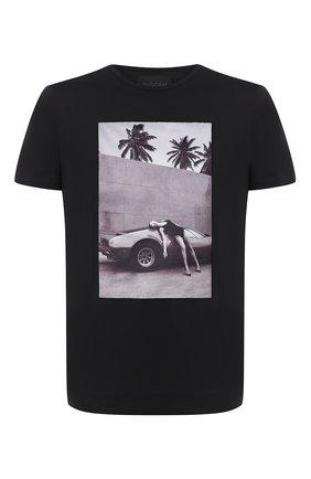 Мужская хлопковая футболка LIMITATO черного цвета, арт. HEADING S0UTH/T-SHIRT REGULAR | Фото 1
