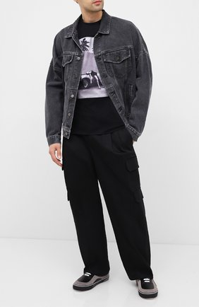 Мужская хлопковая футболка LIMITATO черного цвета, арт. HEADING S0UTH/T-SHIRT REGULAR | Фото 2
