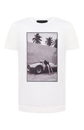 Мужская хлопковая футболка LIMITATO белого цвета, арт. HEADING S0UTH/T-SHIRT REGULAR | Фото 1
