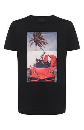 Мужская хлопковая футболка LIMITATO черного цвета, арт. HELL ME/T-SHIRT REGULAR | Фото 1