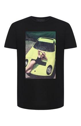 Мужская хлопковая футболка LIMITATO черного цвета, арт. THINK PINK/T-SHIRT REGULAR | Фото 1