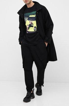 Мужская хлопковая футболка LIMITATO черного цвета, арт. THINK PINK/T-SHIRT REGULAR | Фото 2