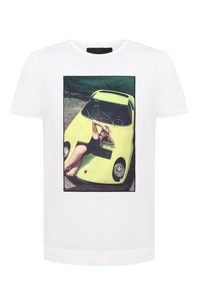 Мужская хлопковая футболка LIMITATO белого цвета, арт. THINK PINK/T-SHIRT REGULAR | Фото 1