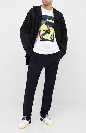 Мужская хлопковая футболка LIMITATO белого цвета, арт. THINK PINK/T-SHIRT REGULAR | Фото 2