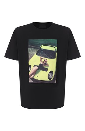 Мужская хлопковая футболка LIMITATO черного цвета, арт. THINK PINK/T-SHIRT RELAX | Фото 1