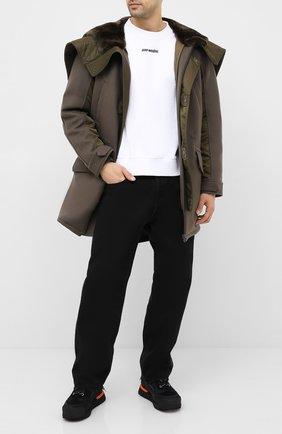 Мужской утепленное пальто YVES SALOMON хаки цвета, арт. 21WHM05296A14G | Фото 2