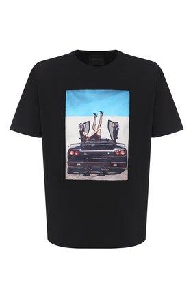 Мужская хлопковая футболка LIMITATO черного цвета, арт. HIGH HEELS/T-SHIRT REGULAR | Фото 1