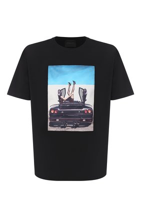 Мужская хлопковая футболка LIMITATO черного цвета, арт. HIGH HEELS/T-SHIRT RELAX | Фото 1