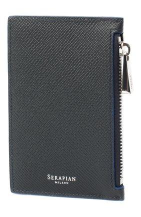 Мужской кожаный футляр для кредитных карт SERAPIAN темно-синего цвета, арт. SEV0LMSL7020M08K | Фото 2