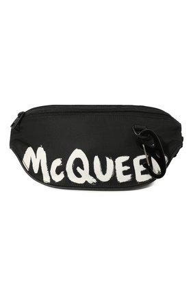 Мужская текстильная поясная сумка ALEXANDER MCQUEEN черного цвета, арт. 627254/HWC1K | Фото 1