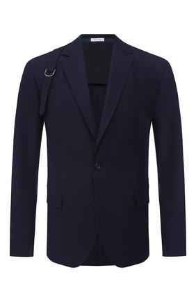 Мужской хлопковый пиджак ALEXANDER MCQUEEN темно-синего цвета, арт. 627151/QPS47 | Фото 1