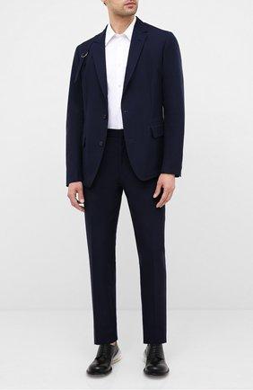 Мужской хлопковый пиджак ALEXANDER MCQUEEN темно-синего цвета, арт. 627151/QPS47 | Фото 2