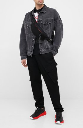 Мужская текстильная поясная сумка ALEXANDER MCQUEEN черного цвета, арт. 625892/HV22K | Фото 2