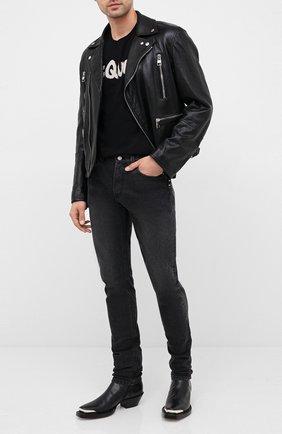 Мужские джинсы ALEXANDER MCQUEEN темно-серого цвета, арт. 625681/QPY77 | Фото 2