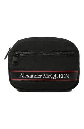 Мужская текстильная поясная сумка ALEXANDER MCQUEEN черного цвета, арт. 625512/HV2AB | Фото 1