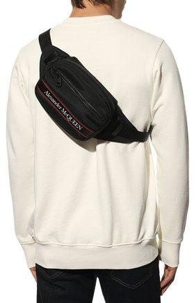 Мужская текстильная поясная сумка ALEXANDER MCQUEEN черного цвета, арт. 625512/HV2AB | Фото 2