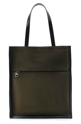 Мужская замшевая сумка-шопер ALEXANDER MCQUEEN хаки цвета, арт. 625508/2E01Y | Фото 1
