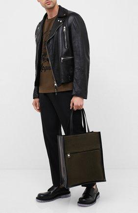 Мужская замшевая сумка-шопер ALEXANDER MCQUEEN хаки цвета, арт. 625508/2E01Y | Фото 2