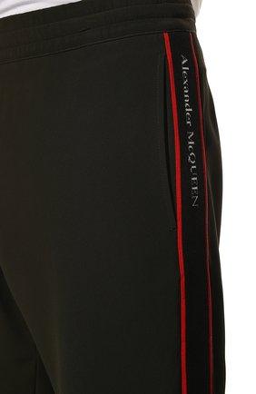 Мужские джоггеры ALEXANDER MCQUEEN хаки цвета, арт. 625381/QPR38 | Фото 5