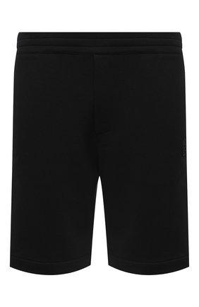 Мужские хлопковые шорты ALEXANDER MCQUEEN черного цвета, арт. 625370/QPX43 | Фото 1
