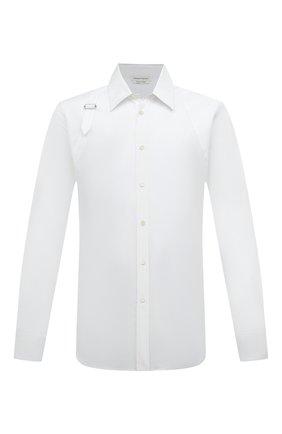 Мужская хлопковая рубашка ALEXANDER MCQUEEN белого цвета, арт. 624753/QPN44 | Фото 1