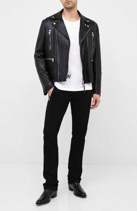 Мужские джинсы ALEXANDER MCQUEEN черного цвета, арт. 624193/QPY32 | Фото 2