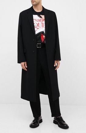Мужская хлопковая футболка ALEXANDER MCQUEEN черного цвета, арт. 624182/QPZ73 | Фото 2