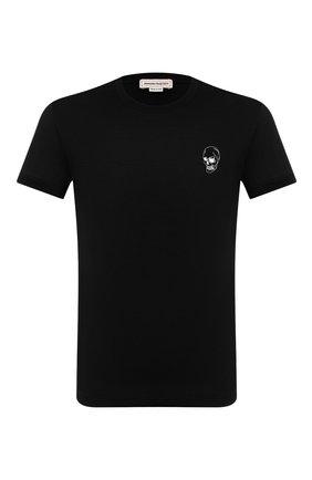 Мужская хлопковая футболка ALEXANDER MCQUEEN черного цвета, арт. 624179/QPZ64 | Фото 1