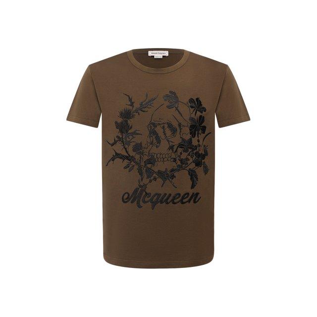 Хлопковая футболка Alexander McQueen