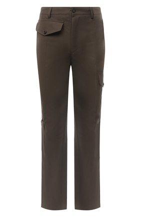 Мужской хлопковые брюки ALEXANDER MCQUEEN хаки цвета, арт. 619187/QPS44 | Фото 1