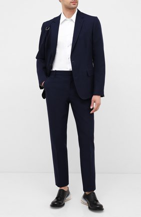 Мужской хлопковые брюки ALEXANDER MCQUEEN темно-синего цвета, арт. 615652/QPS47 | Фото 2