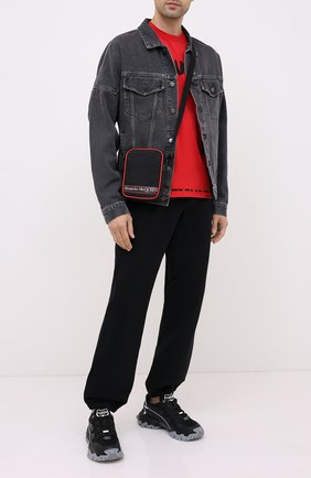 Мужская текстильная сумка ALEXANDER MCQUEEN черного цвета, арт. 610679/HV2CB | Фото 2