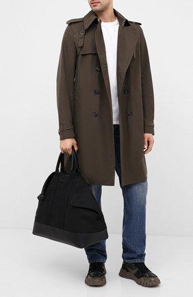 Мужская комбинированная дорожная сумка ALEXANDER MCQUEEN черного цвета, арт. 575553/HU04B | Фото 2