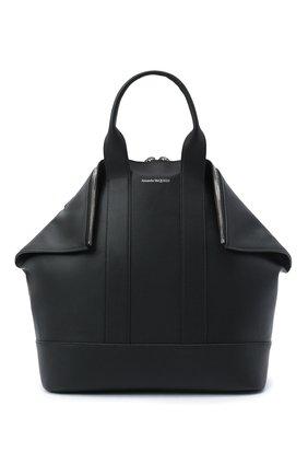 Мужская кожаная сумка ALEXANDER MCQUEEN черного цвета, арт. 575546/1C00N | Фото 1