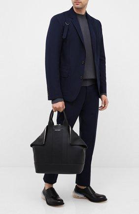 Мужская кожаная сумка ALEXANDER MCQUEEN черного цвета, арт. 575546/1C00N | Фото 2
