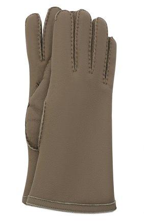 Женские кожаные перчатки LORO PIANA хаки цвета, арт. FAL3318 | Фото 1