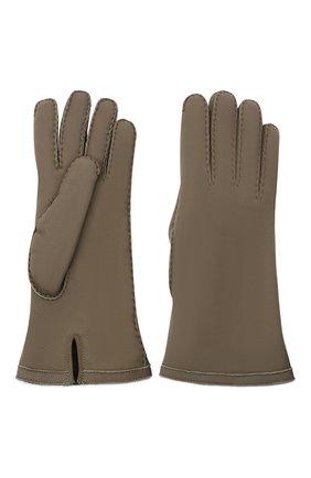 Женские кожаные перчатки LORO PIANA хаки цвета, арт. FAL3318 | Фото 2