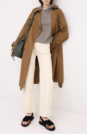 Женский пуловер с капюшоном LORENA ANTONIAZZI бежевого цвета, арт. A20110FM009/247 | Фото 2