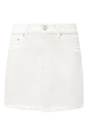 Женская джинсовая юбка MOUSSY белого цвета, арт. 025DSC11-2370 | Фото 1
