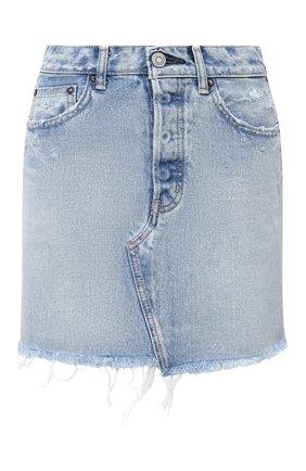 Женская джинсовая юбка MOUSSY голубого цвета, арт. 025DSC11-2350 | Фото 1