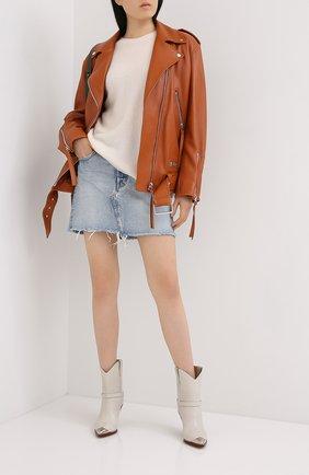 Женская джинсовая юбка MOUSSY голубого цвета, арт. 025DSC11-2350 | Фото 2