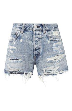 Женские джинсовые шорты MOUSSY голубого цвета, арт. 025DSC11-2330 | Фото 1