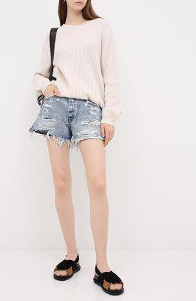 Женские джинсовые шорты MOUSSY голубого цвета, арт. 025DSC11-2330 | Фото 2