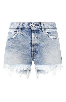 Женские джинсовые шорты MOUSSY голубого цвета, арт. 025DSC11-2300 | Фото 1