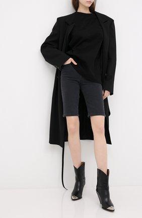 Женская футболка MOUSSY черного цвета, арт. 025DS380-0400 | Фото 2