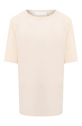 Женская футболка из хлопка и льна MOUSSY белого цвета, арт. 025DS380-0390 | Фото 1