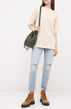 Женская футболка из хлопка и льна MOUSSY белого цвета, арт. 025DS380-0390 | Фото 2