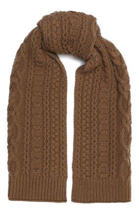Женский шерстяной шарф BALLY коричневого цвета, арт. L7LR472K-8J453/335 | Фото 1